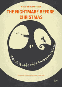 No712 My The Nightmare Before Christmas minimal movie poster by chungkong
