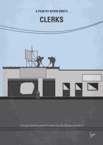 No715 My Clerks minimal movie poster by chungkong