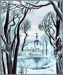 Winter. Kloster St. Marienthal by Konstantin Beider