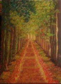 Allee im Herbst by Rena Rady