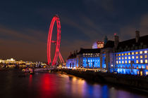 County Hall and The London Eye by Leighton Collins