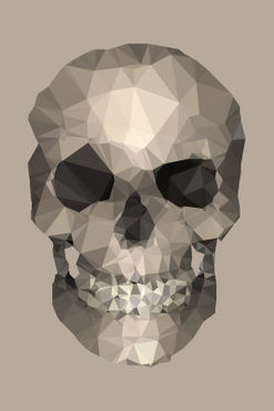 Polygons-skull-beige
