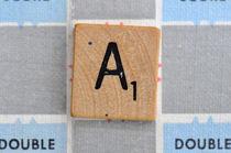Scrabble A by Jane Glennie