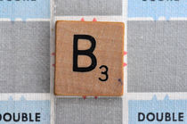 Scrabble B by Jane Glennie