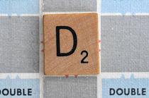 Scrabble D von Jane Glennie