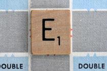 Scrabble E by Jane Glennie