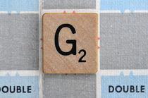 Scrabble G von Jane Glennie