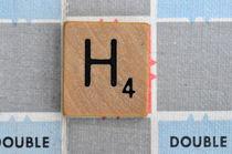 Scrabble H by Jane Glennie