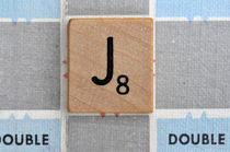 Scrabble J by Jane Glennie