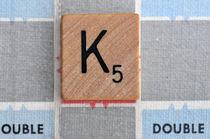 Scrabble K by Jane Glennie