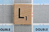 Scrabble L by Jane Glennie
