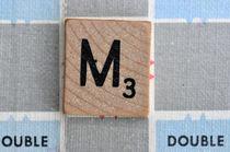 Scrabble M by Jane Glennie