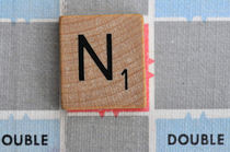 Scrabble N by Jane Glennie