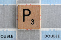 Scrabble P by Jane Glennie