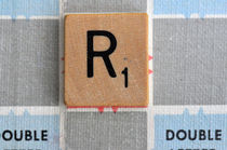 Scrabble R by Jane Glennie