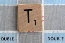 Scrabble T by Jane Glennie