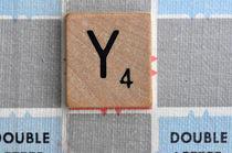 Scrabble Y by Jane Glennie