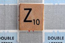 Scrabble Z by Jane Glennie
