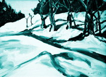 Winterlandschaft II by Eberhard Schmidt-Dranske