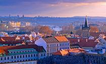 Overlooking Prague by Keld Bach