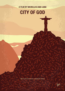 No716 My City of God minimal movie poster by chungkong