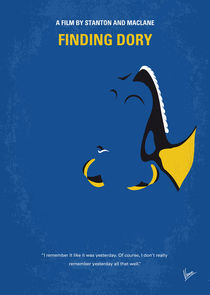 No717 My Finding Dory minimal movie poster by chungkong