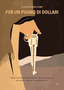No721 My A Fistful of Dollars minimal movie poster by chungkong