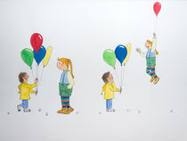 Luftballon Kinder by Angelika Wegner