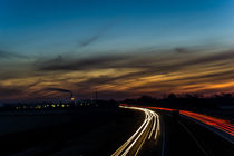 Lighttrail sunset by Johan Dingemanse