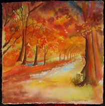 Herbstglühen von Theodor Fischer