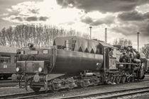 Wannentender Dampflok in S/W von Steffen Klemz
