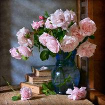 Garten-Rosen im blauen Vase von Nikolay Panov
