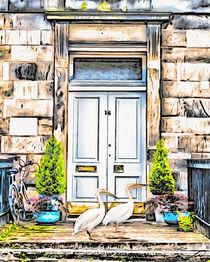 gefiederte Gäste vor der Tür by Wolfgang Pfensig