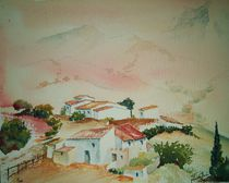Dorf bei Ronda,  by Theodor Fischer