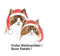Frohe Weihnachten !- Buon natale! von Herfriede Konkolits-Fessl