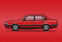 Four-Ring 80 B2 Quattro Tornado Red 4-Door Sedan  von monkeycrisisonmars