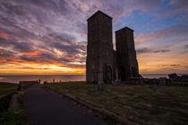 Sunset - Reculver Towers #1 von Kevin Grimshaw