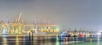 Blick auf den Hafen in Neumühlen/Övelgönne (Hamburg)