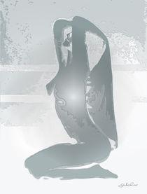 Kniender Akt mit Tuch von Gabriel Bur