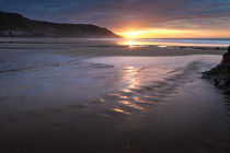 Caswell Bay beach stream by Leighton Collins