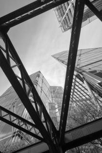 London City Girders and Tall Finance Buildings by John Williams