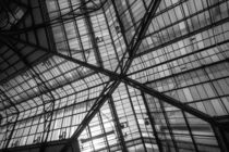 Liverpool Street Station Glass Ceiling Abstract von John Williams