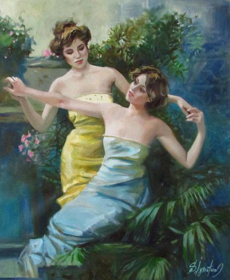 Ignatenko-dancing-in-garden-oil-on-canvas-47kh37cm-2016-1
