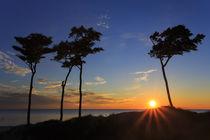 Sonnenuntergang am Weststrand von moqui