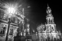 Dresden bei Nacht - Katholische Hofkirche #2 von Colin Utz