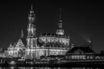 Dresden bei Nacht - Katholische Hofkirche #1 von Colin Utz