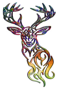 Abstract Tribal Deer by Blake Robson