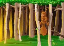 Eichhörnchen im Abendlicht by Kim Nadine Adamek