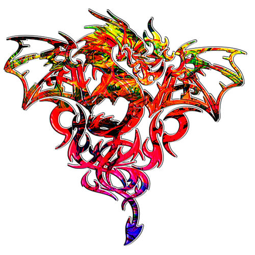 Abstract-fire-breathing-tribal-dragon