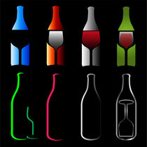 Bottles and glasses- spirits  von Shawlin I